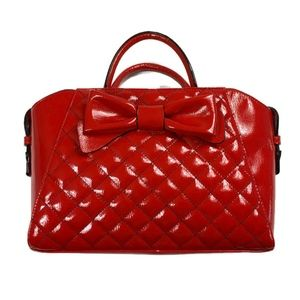 Betsey Johnson Bow Satchel in Red